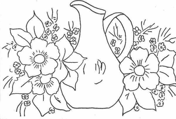 Worksheet. Patrones de flores para pintar sobre tela
