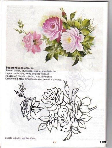 Patrones de flores para pintar sobre tela