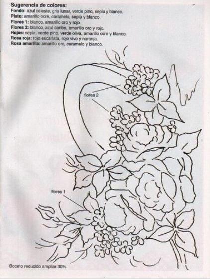 Cenefas de flores para pintar en tela - Imagui