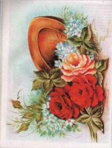 flores y plato