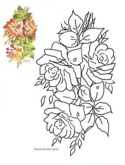 ... de modelos de flores para pintar sobre tela o que también pueden