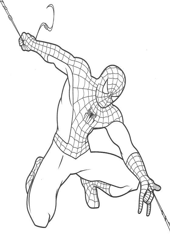 Hombre Araña (Spiderman) para colorear