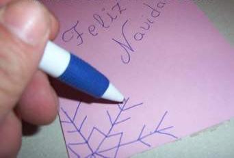Tarjeta navidad papel paso2