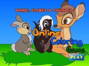 bambi y sus amigos- mini dibujo