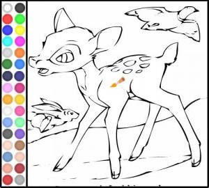 colorear disney bambi