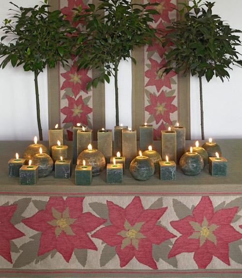 mesa navidad velas