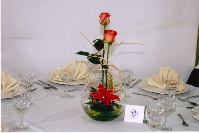 pecera rosas