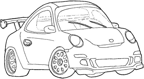 Dibujos de carros para imprimir y colorear