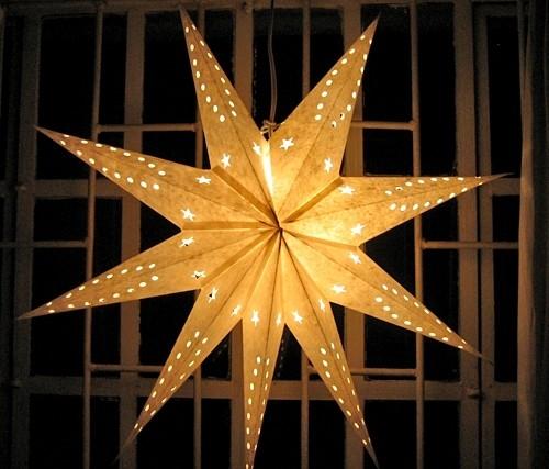 C mo hacer una estrella de navidad con cuentas de cristal - Estrella para arbol de navidad ...