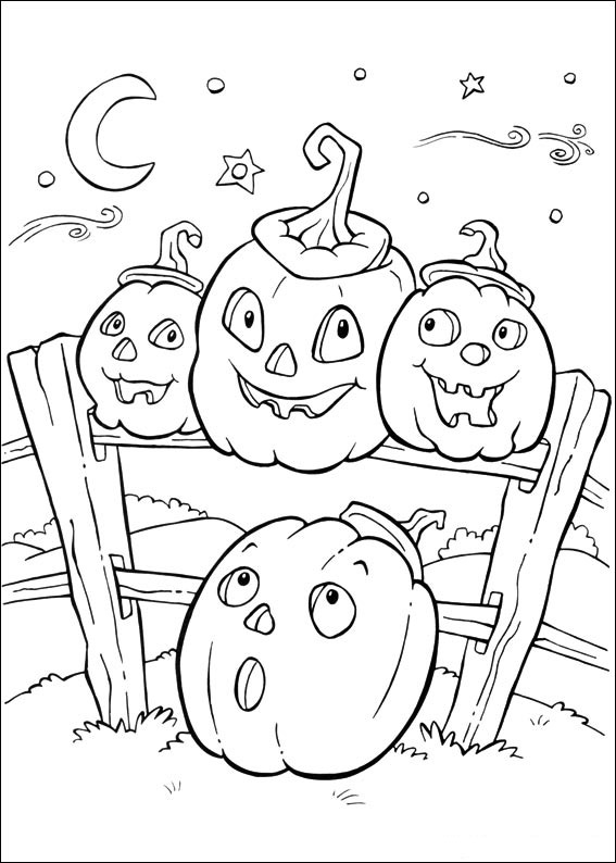 halloween scenery coloring pages - photo #5