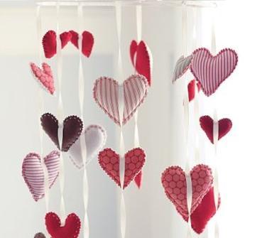Hacer cortinas con corazones