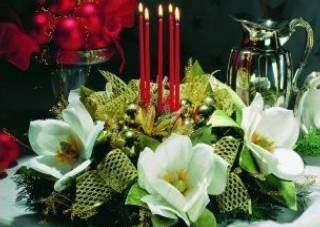 centro navidad con ramas