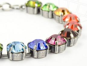 Como hacer un brazalete con cuentas de diferentes colores