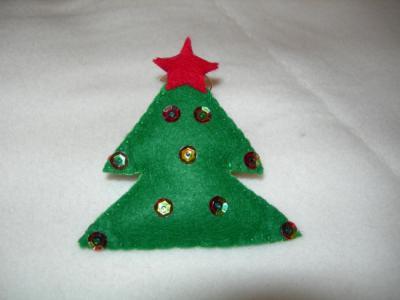Como hacer árboles de navidad de fieltro