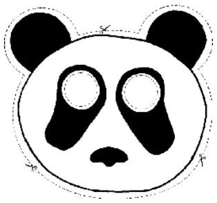Careta de Oso Panda